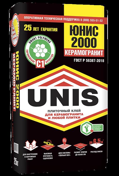 Усиленный плиточный клей  UNIS 2000, класс С1