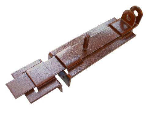Засов плоский с проушиной ЗПП-350 мод.2 медь антик (Балаково) DOMART,  11593794