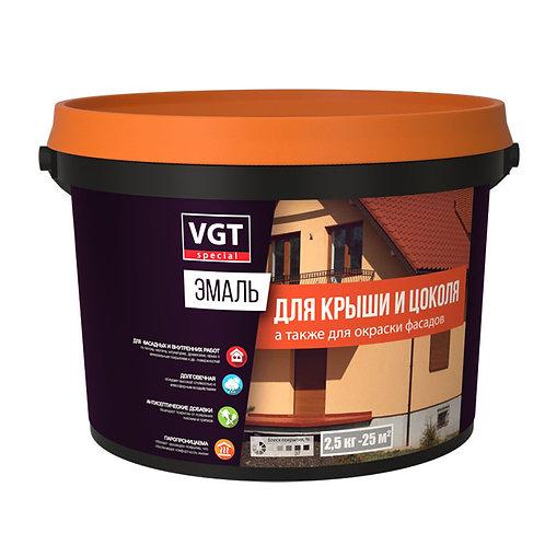 """Эмаль VGT для шифера крыши """"Профи"""" ВД АК 1179 , бордо  10 кг,  11603532"""