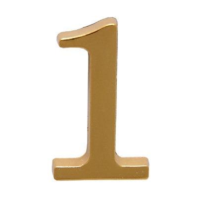 Цифра дверная АЛЛЮР 1 на клеевой основе (золото), 11599736