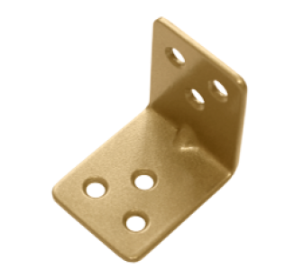 Уголок крепежный 40*40*30 золото (Балаково) DOMART, 54944