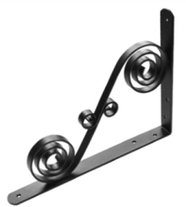 Кронштейн фигурный 300х225 мод.9 черный  (Балаково) DOMART,  11598031