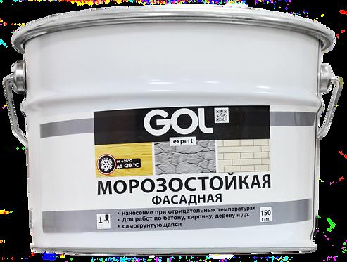 Краска акриловая фасадная морозостойкая GOL expert 146, база А, 12 кг 11605743