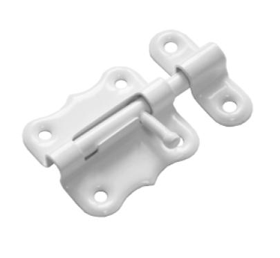 Шпингалет фигурный ШФ-50 белый (Балаково) DOMART,  54868