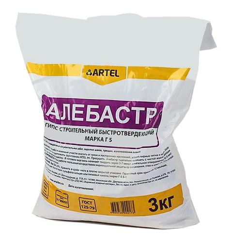 Алебастр ARTEL белый 3кг, 11594199
