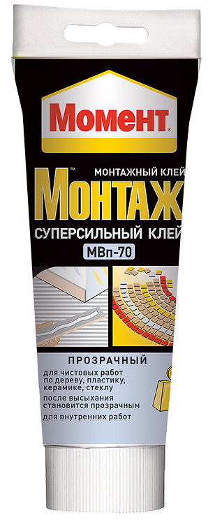 Жидкие гвозди Момент-монтаж МВп-70 Супер сильный прозрачный 185г   586387