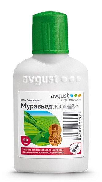 Инсектицид AVGUST Муравьед от садовых муравьев 50 мл 11603380