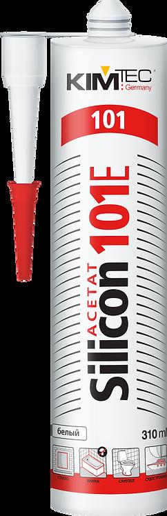 Герметик KIM TEC Silicon 101E,  белый, 310 мл 3701