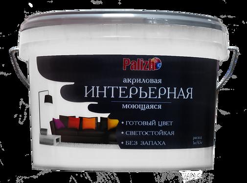 Краска PALIZH акриловая интерьерная моющаяся №315 пломбир 3,7 кг 11605606