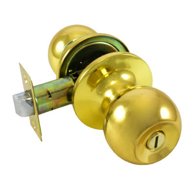 Ручка-защелка дверная СТАНДАРТ фикс 607 ВК GP золото, 11604026