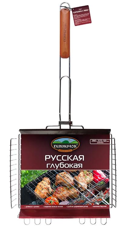 Решетка-гриль РУССКАЯ глубокая  ПИКНИЧОК 11597811