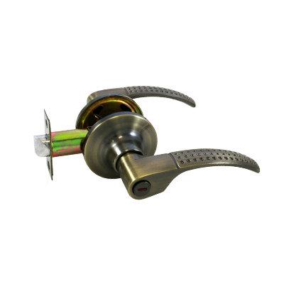 Ручка-защелка дверная СТАНДАРТ фикс 8510 ВК AB бронза, 11604035