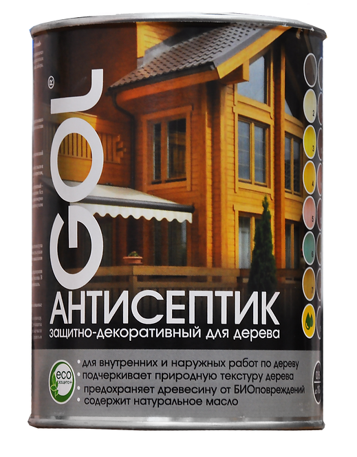 Антисептик защитно-декоративный GOLwood рябина Wd.281-11, 0,8 л 11605763
