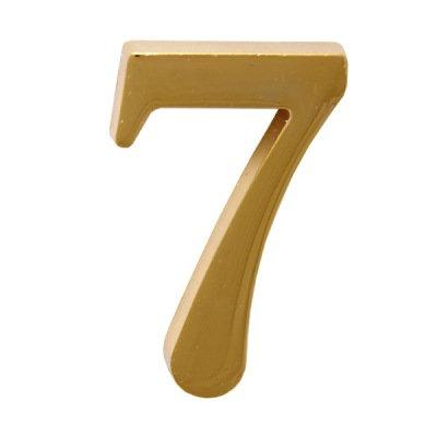 Цифра дверная АЛЛЮР 7 на клеевой основе (золото), 11599741
