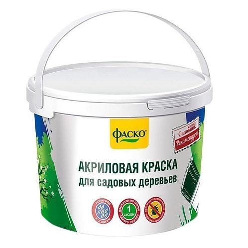 Краска для садовых деревьев ФАСКО в ведре 2,5 кг 11587607