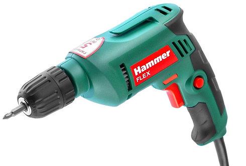 Дрель Hammer Flex DRL500C 500Вт 10мм, БЗП 0-3200об/мин, реверс, 11604339