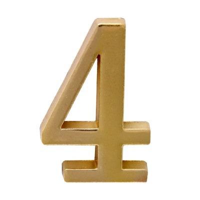 Цифра дверная АЛЛЮР 4 на клеевой основе (золото), 11599739