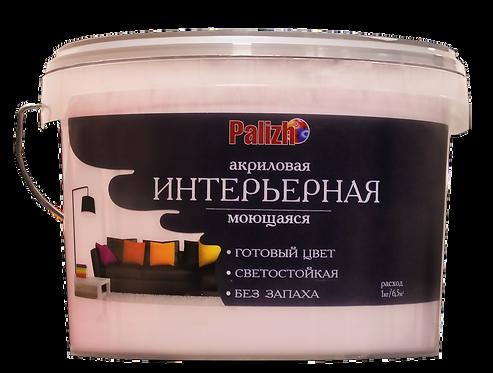 Краска PALIZH акриловая интерьерная моющаяся №312 барбарис 3,7 кг 11605603