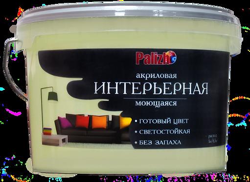 Краска PALIZH акриловая интерьерная моющаяся №304 ваниль 3,7 кг 11605595
