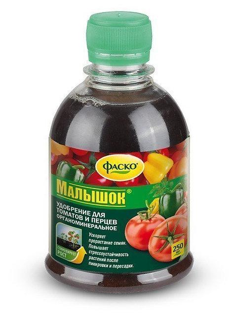 Жидкое удобрение Малышок для томатов и перца органоминеральное, 250мл 11594305