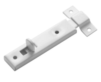Шпингалет мебельный белый (Балаково) DOMART,  54935