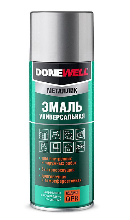 Эмаль универсальная металлик DONEWELL, 520 мл