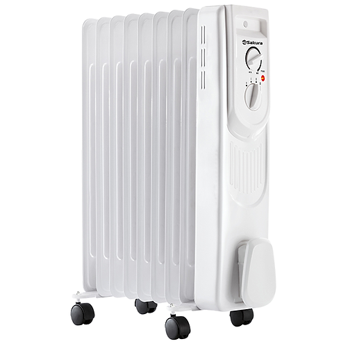 Радиатор масляный SA-0339W, 1500Вт, 9 секций,  11603546