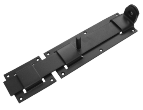 Засов плоский с проушиной ЗПП-350 черный  (Балаково) DOMART,  11593786