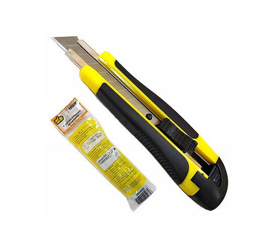 Нож выдвижной 888, автофиксация лезвия, 18 мм