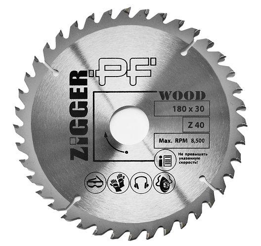 Диск пильный по дереву ZIGGER PF D180*d30*Z40