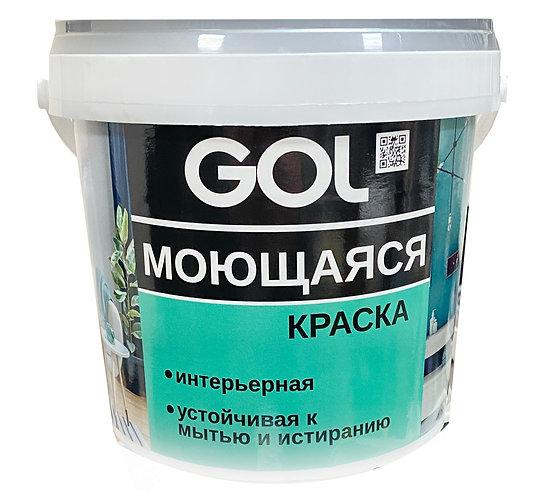 Краска интерьерная моющаяся GOL expert ВД-АК-1180, 1,4 кг