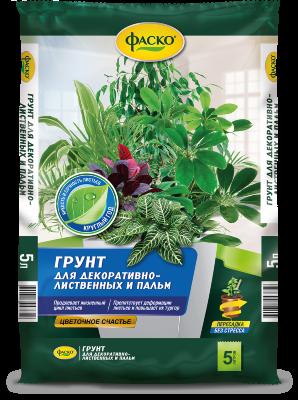 Грунт для декоративных растений и пальм ФАСКО Цветочное счастье, 5 л 11587586