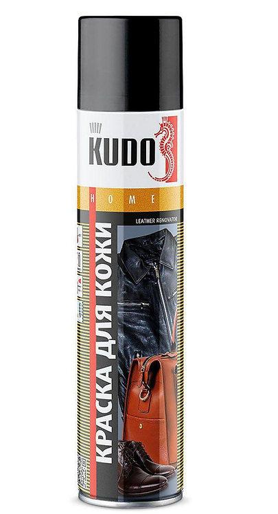 Краска для гладкой кожи KUDO, черная/коричневая 400 мл