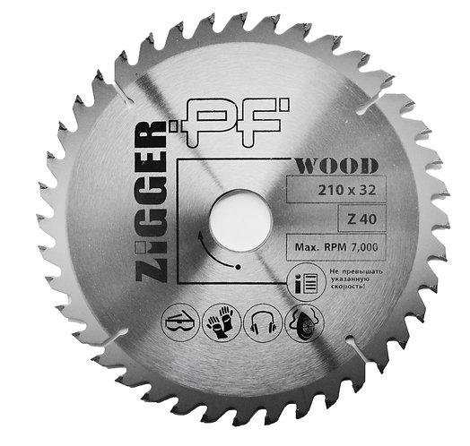 Диск пильный по дереву ZIGGER PF D210*d32*Z40