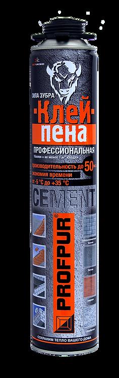 Клей-пена PROFPUR CEMENT, 850 мл