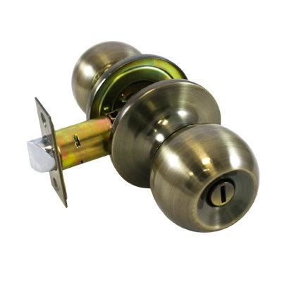 Ручка-защелка дверная СТАНДАРТ фикс 607 ВК AB бронза, 11604023
