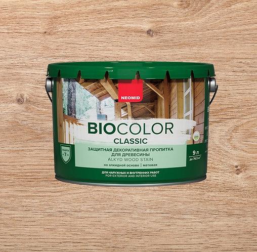 Защитная пропитка для древесины NEOMID Bio Color Classic, 9 л
