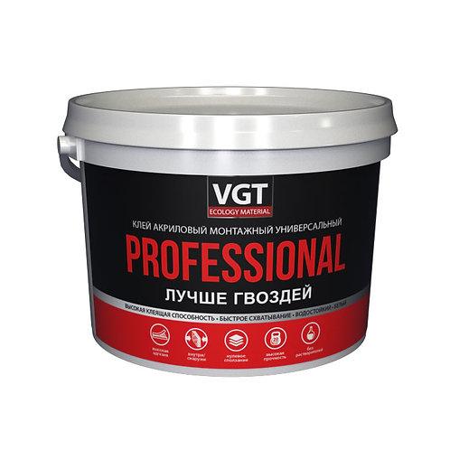 Клей акриловый монтажный ПРОФ VGT белый
