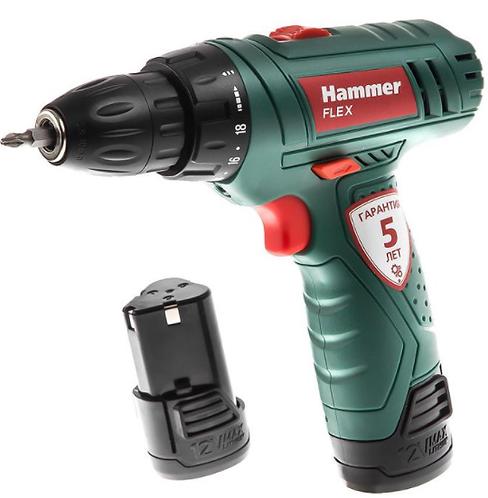 Аккумуляторная дрель Hammer Flex ACD12/2LE 12.0В Li-lon, 11603421