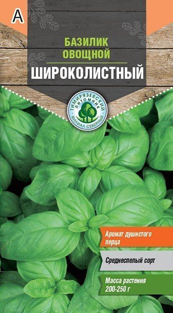 Семена Тимирязевский питомник базилик Широколистный  0,5г  11604005