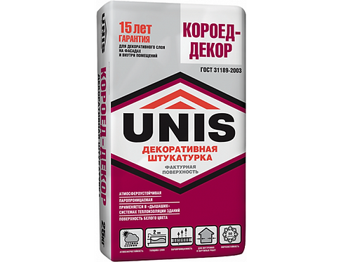 Штукатурка декоративная UNIS КОРОЕД-декор, 25 кг