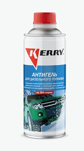 Антигель для дизельного топлива KERRY концентрат на 300л, 450мл KR-353, 11605576
