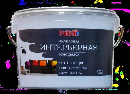 Краска PALIZH акриловая интерьерная моющаяся №309 можжевельник 3,7 кг 11605600