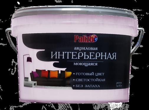 Краска PALIZH акриловая интерьерная моющаяся №313 розмарин 3,7 кг 11605604