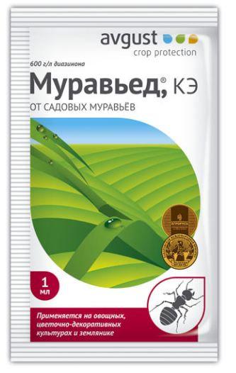 Инсектицид AVGUST Муравьед от садовых муравьев 1 мл 11596625