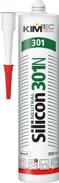 Герметик силиконовый KIM TEC Silicon Neutral 301N белый 310 мл 51410