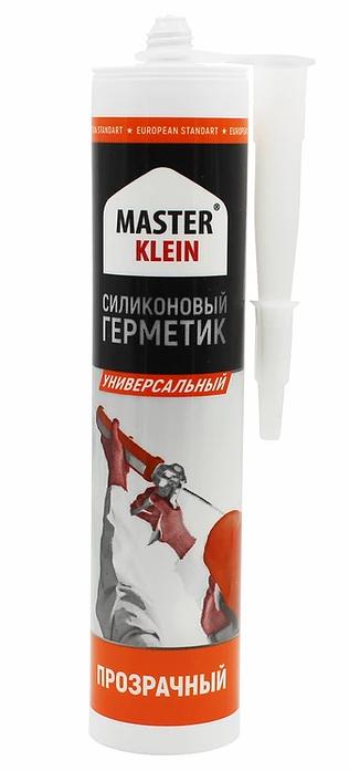 Герметик силиконовый универсальный MASTER KLEIN, белый, прозрачный  280мл