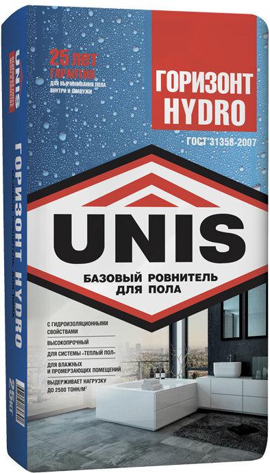 Ровнитель для пола UNIS Горизонт Hydro, 25 кг