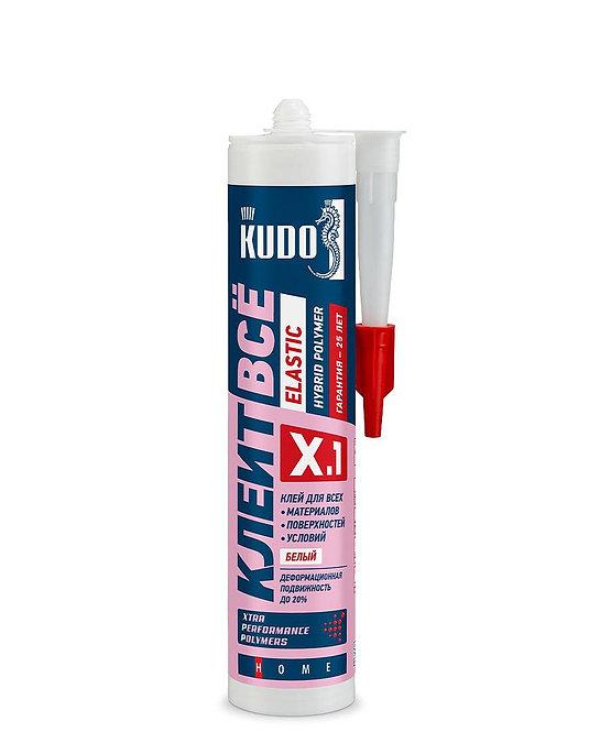 Клей KUDO Клеит Всё ELASTIС эластичный  полимерный белый 280мл, KX-1W, 11605656