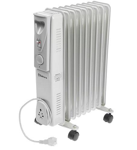 Радиатор масляный SAKURA  SA-0349 Light, 2000 Вт, 9 секций, серый 11603548